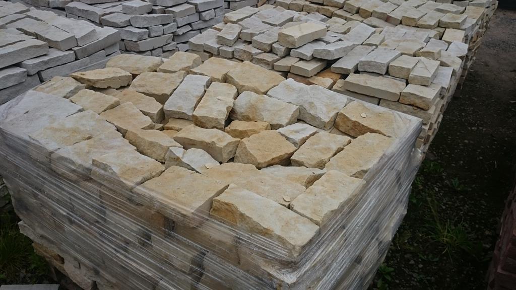 Młodzieńczy Kamień na ogrodzenie, murek, biało-żółty, cegły WR63